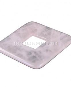 Donut-rozenkwarts-vierkant-zonder-koord